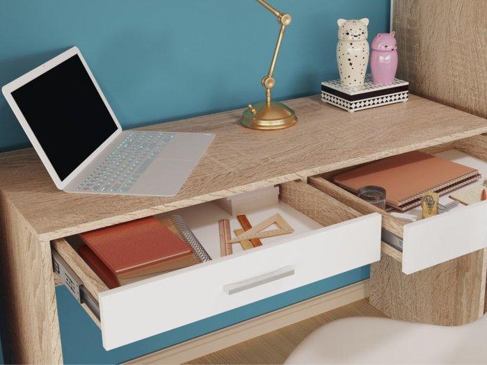 Стол письменный Стелс бежевого цвета