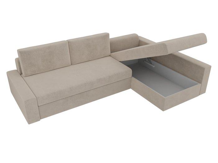 Угловой диван-кровать Версаль бежевого цвета