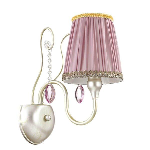 Бра Odeon Light Gaellori с розовым абажуром