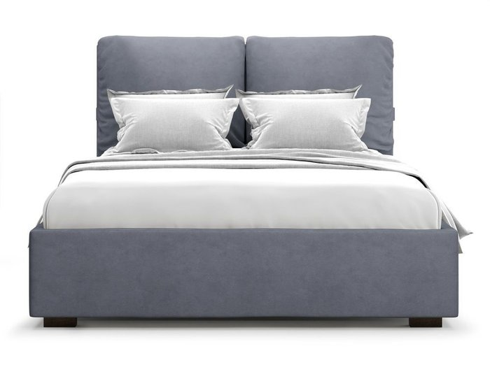 Кровать Trazimeno 180х200 серого цвета