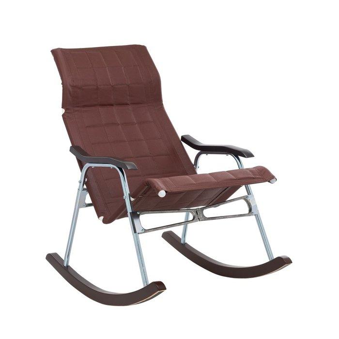 Кресло-качалка складная Белтех коричневого цвета