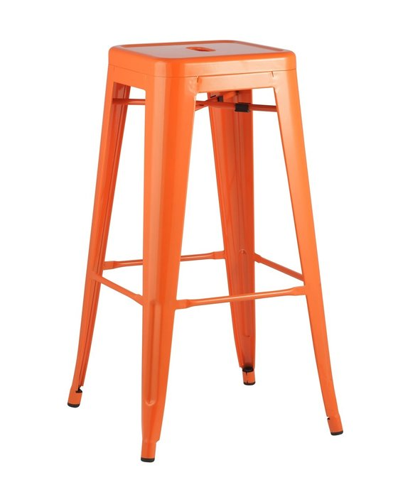 Барный табурет Tolix оранжевого цвета