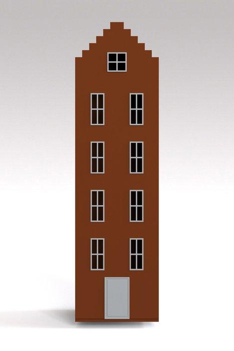 Шкаф-домик Брюгге Maxi кирпичного цвета