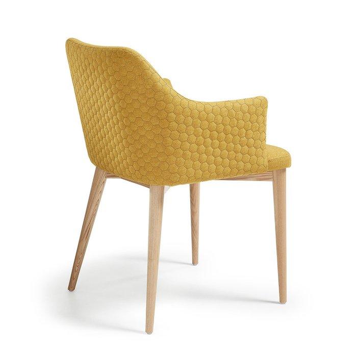 Обеденный стул с мягкой обивкой Danai горчичный