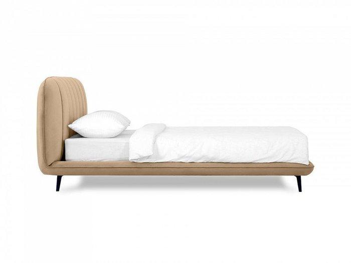 Кровать Amsterdam 160х200 светло-коричневого цвета