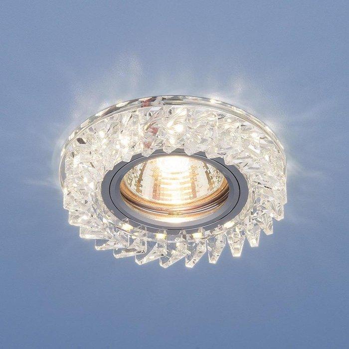 Встраиваемый светильник из металла и стекла