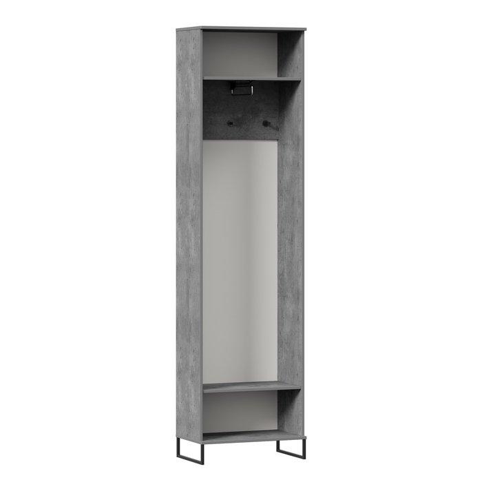 Шкаф Сидней серо-коричневого цвета