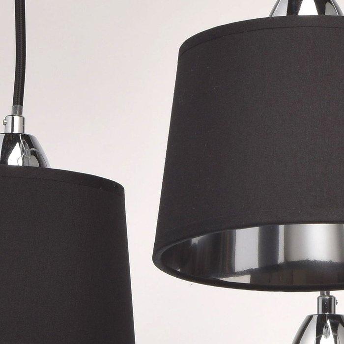 Потолочная люстра Лацио черного цвета
