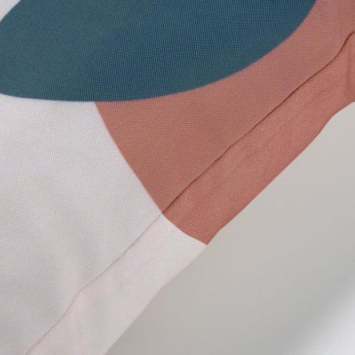 Чехол для подушки Abish с геометрическими фигурами бежевого цвета 45х45