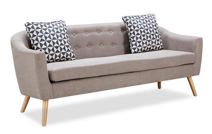 Прямой диван Florence L серо-бежевого цвета