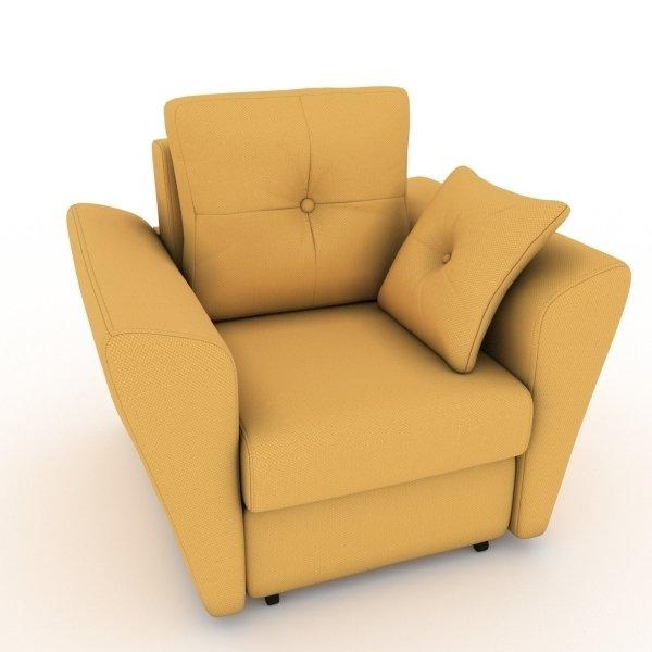 Кресло-кровать Neapol желтого цвета