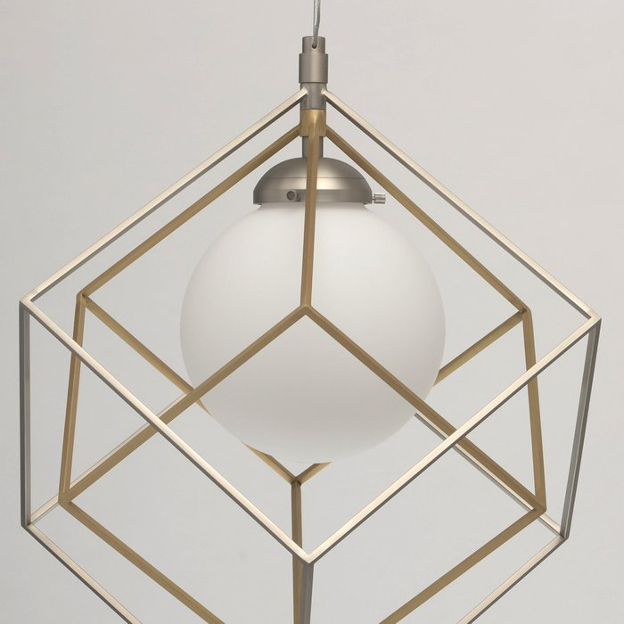 Подвесной светодиодный светильник Призма с белым плафоном