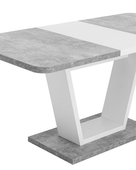 Обеденный раскладной стол Vector бело-серого цвета