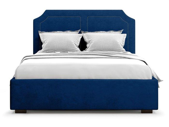 Кровать с подъемным механизмом Lago 180х200 синего цвета