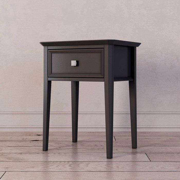 Тумба прикроватная с ящиком Ellington черного цвета