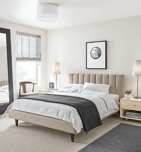 Кровать Клэр 180х200 серо-бежевого цвета с подъемным механизмом