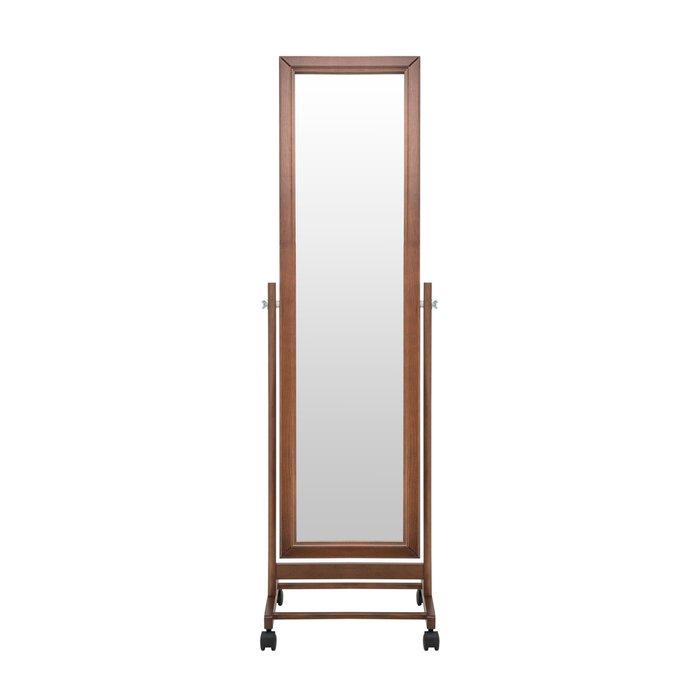 Зеркало напольное Мэмфис коричневого цвета