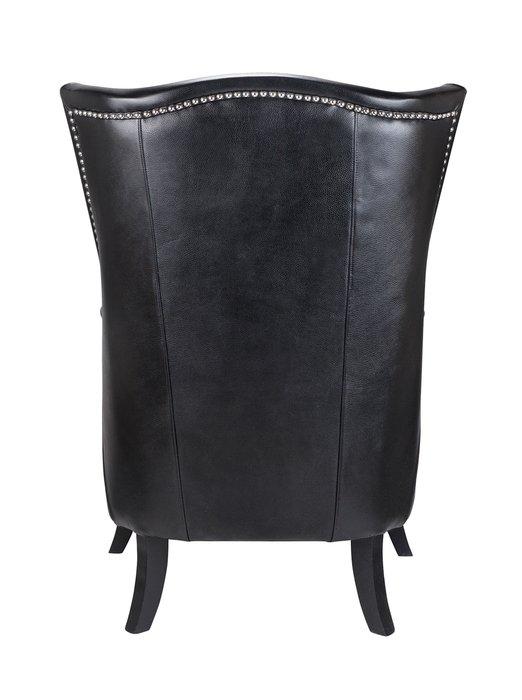 Дизайнерское кресло Chester black leather черного цвета