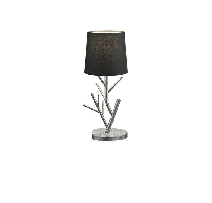 Настольная лампа Fraioly с текстильным черным абажуром