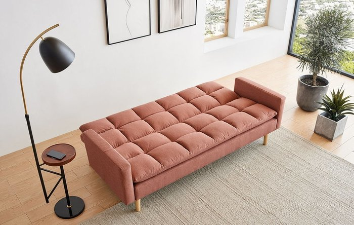 Диван-кровать Felicity кораллового цвета