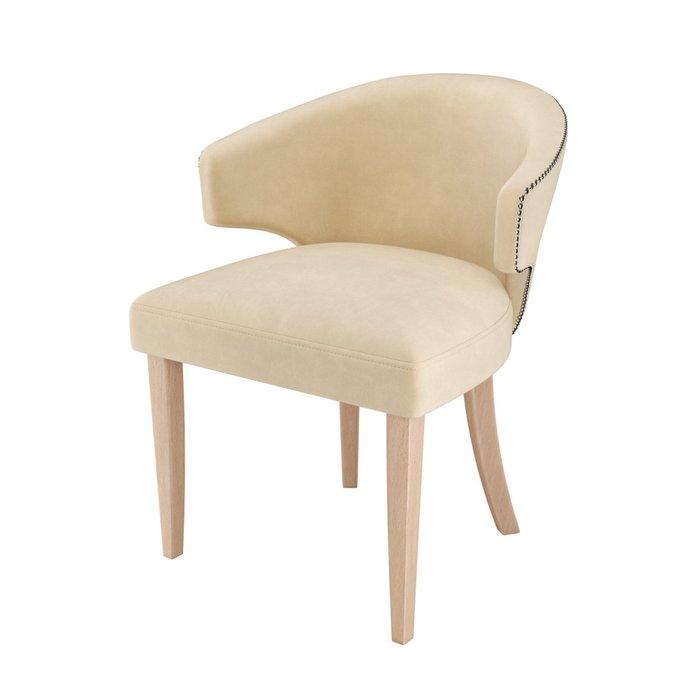 Стул-кресло мягкий Verbena бежевого цвета