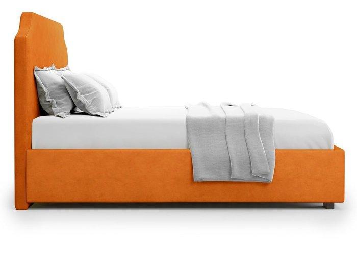 Кровать Izeo с подъемным механизмом 140х200 оранжевого цвета