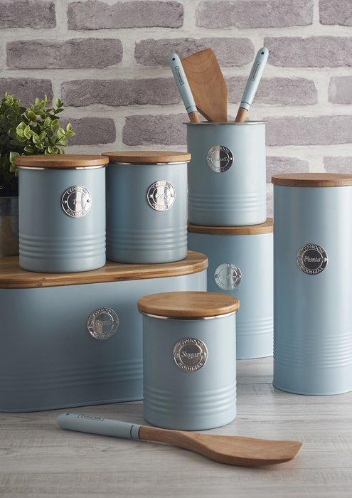 Емкость для хранения чая Living голубого цвета