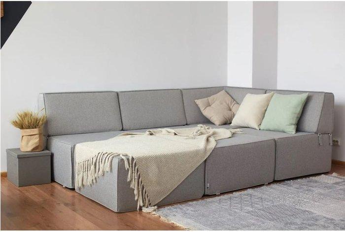 Модульный диван Cube серого цвета