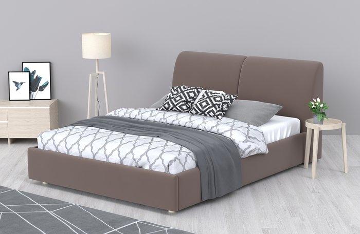 Кровать Бекка 140x200 коричневого цвета