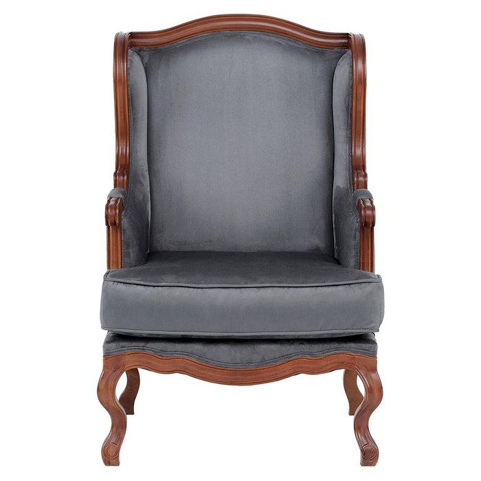 Кресло French Anthracite серого цвета