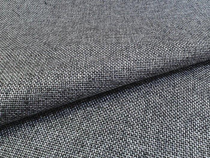 Угловой диван-кровать Даллас серо-черного цвета (ткань\экокожа)