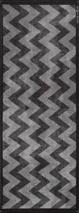 Ковер Urban Zigzag серого цвета 60х160