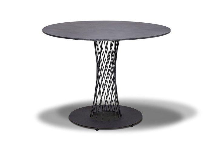 Обеденный стол круглый Диего цвета Серый Гранит