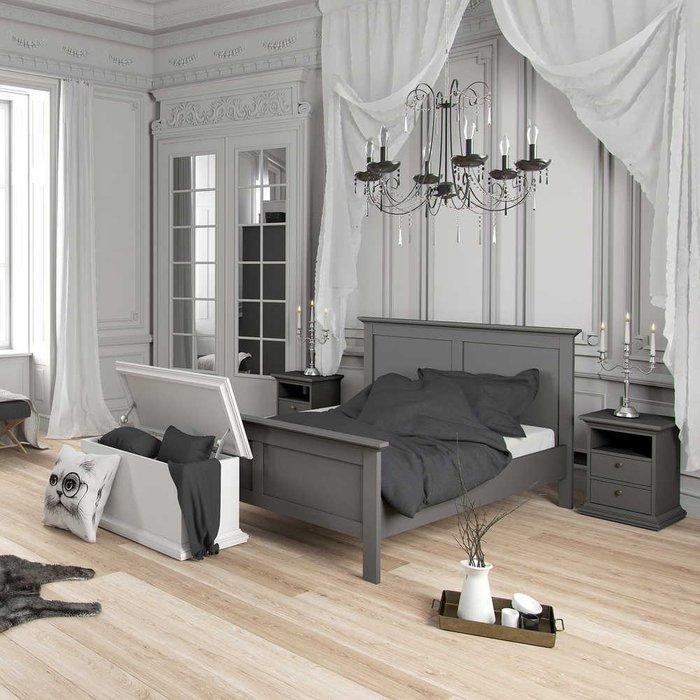 Тумба прикроватная Paris серого цвета