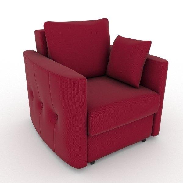 Кресло-кровать Luna красного цвета
