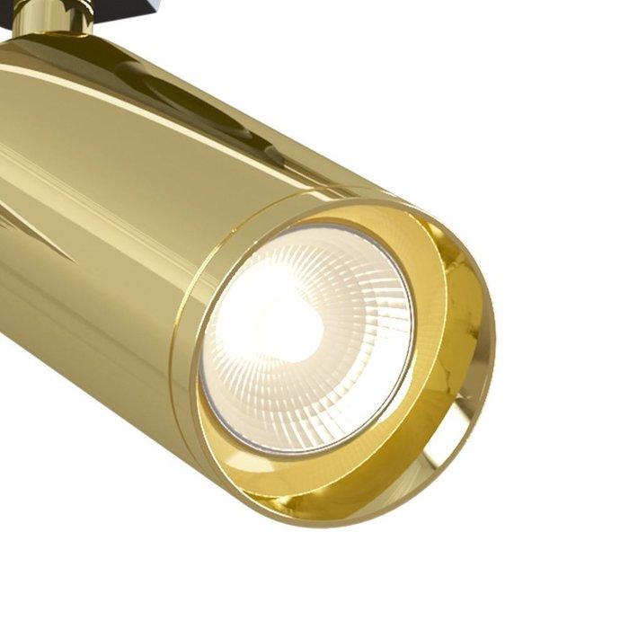 Трековый светодиодный светильник Track lamps золотого цвета
