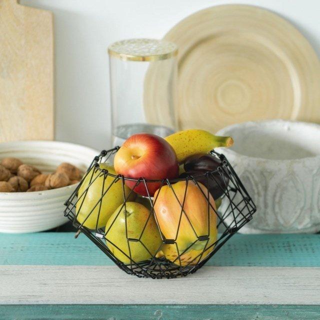 Ваза-трансформер для фруктов Multi Form  черного цвета