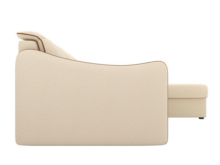 Угловой диван-кровать Скарлетт бежевого цвета