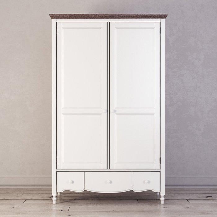 Шкаф двухстворчатый Leblanc белого цвета