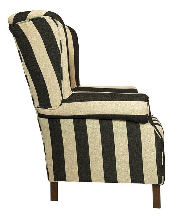 Кресло бежево-черного цвета
