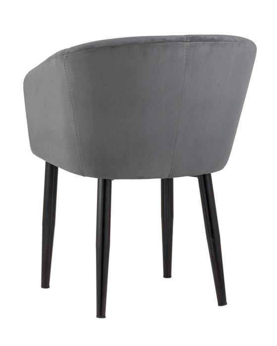 Кресло Ральф велюр тёмно-серого цвета