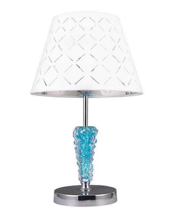 Настольная лампа Ланс с белым абажуром