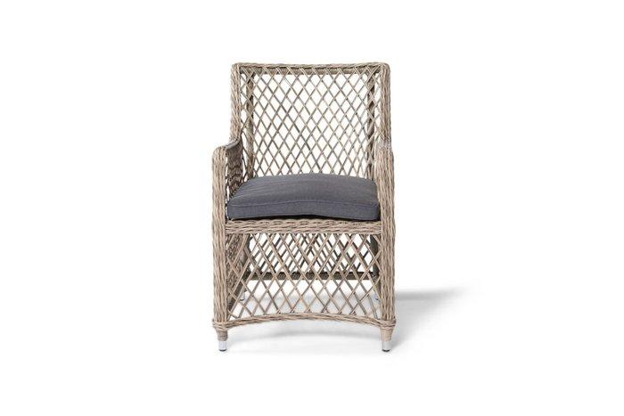 Плетеный кресло  Латте соломенного цвета