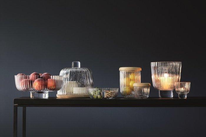 Блюдо глубокое Pleat из прозрачного стекла