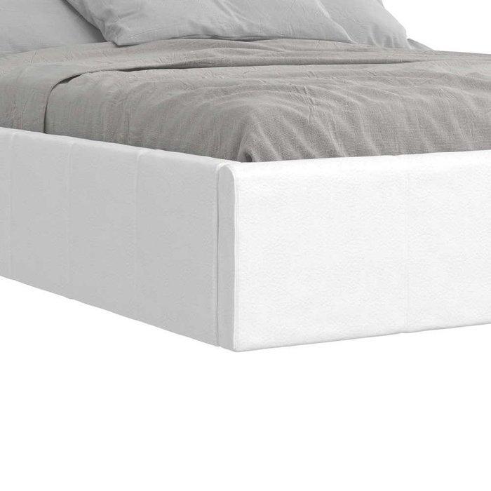 Мягкая кровать 180х200 в обивкой из экокожи с отделением для хранения