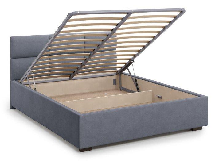 Кровать Bolsena 160х200 серого цвета с подъемным механизмом