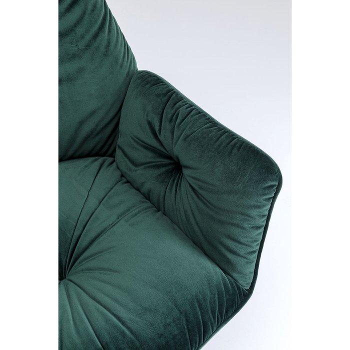 Стул мягкий с подлокотниками Lina зеленого цвета