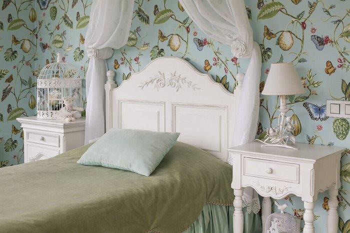 Кровать Марсель белого цвета 90х190