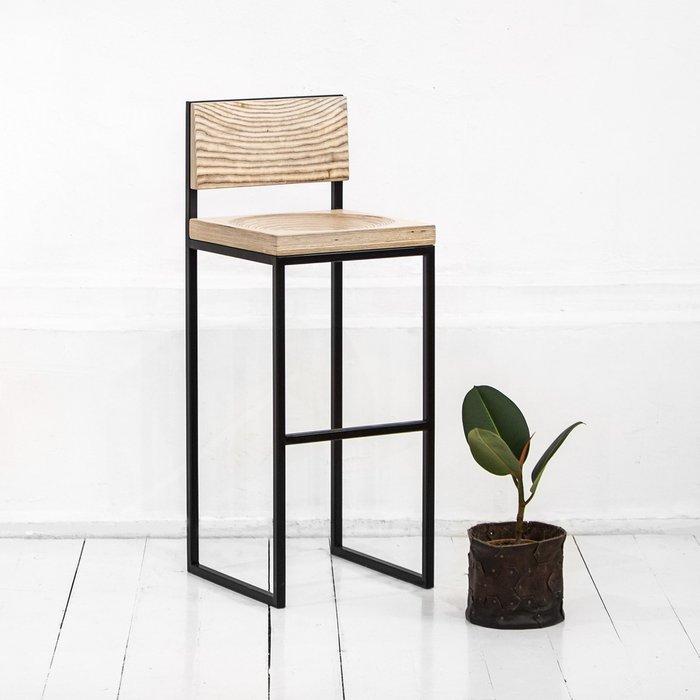 Барный стул Fullmoon в натуральном цвете березы