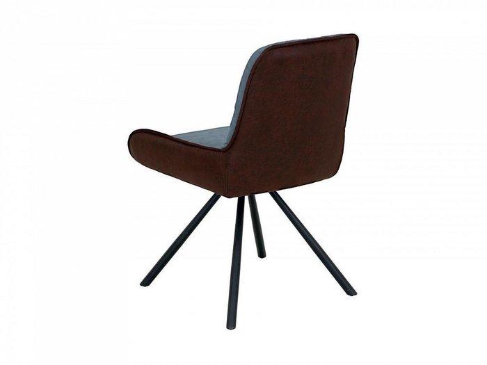 Кресло Neo сине-коричневого цвета